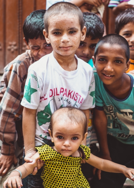 Children from the slum.